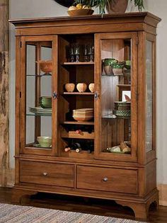 Linwood American Classics China Chest - Floor Sample on Clearance Crockery Cabinet, Cabinet Decor, Cabinet Design, Dining Room Furniture, Furniture Making, Diy Furniture, Furniture Design, Küchen Design, Home Decor Kitchen
