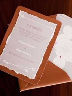 hunger games wedding invitation