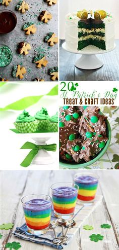 """There is more than one way not to get """"pinched"""" on St. Patrick's Day. Come bringing green treats and crafts! {wink} Here are some of my favorite treat ideas for St. Patrick's Day (I'm specially loving the rainbows): Bailey's Irish Cream Cookies – Buttercr"""