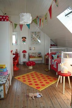 12 Kidsrooms with a touch of vintage