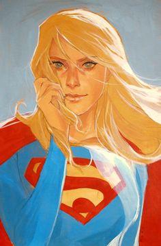 Super Girl by Phil Noto - More at https://pinterest.com/supergirlsart/
