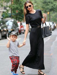 Miranda Kerr in black