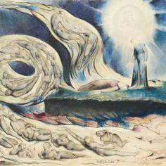 Les flammes de l'imagination - La Divine Comédie de Dante Alighieri (1265–1321), achevée en 1321, est considérée comme un chef-d'œuvre de la littérature mondiale et l'œuvre la plus importante en langue italienne. Le poème raconte le voyage d'un homme à travers l'enfer, le purgatoire et le paradis, tout en représentant aussi le parcours de l'âme jusqu'à Dieu. Au cours des dernières années de sa vie, le poète et artiste romantique William Blake (1757–1827) en a réalisé 102 illustrations.