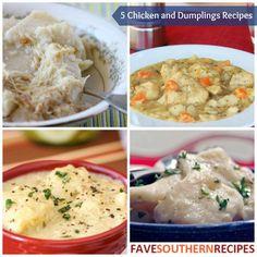 Just Like Grandma Used to Make: 5 Chicken and Dumplings Recipes | FaveSouthernRecipes.com