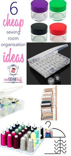 6 cheap sewing room organization ideas on Sew Some Stuff - OMG! These 6 cheap sewing room organization ideas are a STEAL! They are a must for every sewing room to keep things organized and clean. I especially LOVE the clothes rack.