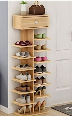 Whichever shoe storage ideas you choose in consider not only their functionality, but also their home decor wow factor.f you love the industrial décor look, this is a great DIY shoe rack to…Daha fazlası Diy Shoe Rack, Wood Shoe Rack, Shoe Shelf Diy, Shoe Rack Closet, Wood Shoe Storage, Shoe Storage For Front Door, Vertical Shoe Storage Ideas, Shoe Racks For Closets, Shoe Organizer Closet