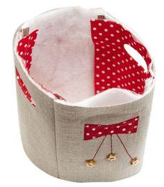 Fabric Storage Basket with Handles DIY Tutorial