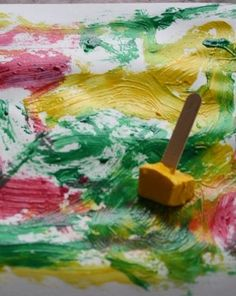 Activities: Paint with Ice. Fun for the summertime.