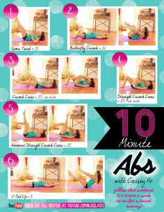 My top 6 ab sculpting moves! Do it 3-4x a week to see results!
