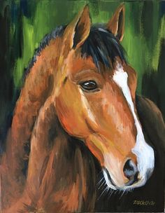 Horse Gaze  Original hand made acrylic painting on canvas. Signed.  Horses are such beautiful and smart creatures, I tried to capture that in this painting.  About me: Czech artist living in Vancouver. I have been always interested in art since I was a child. My favourite subjects are animals