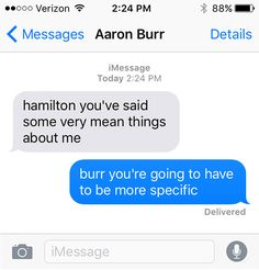 SparkLife » Hamilton As Told in a Series of Texts