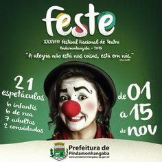 FESTE 2015 (XXXVIII Festival Nacional de Teatro)   Prefeitura de Pindamonhangaba.