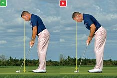 What the great putters do: Instead of positioning your eyes directly over the ball, do what most pros do and set them several inches to the inside.