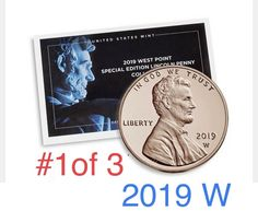 2019 W REVERSE Proof Lincoln Cent Penny-With Envelope//COA Gem Proof-West Point