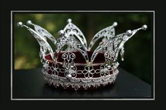 Another Norwegian bridal crown, this one in silver. Wouldn't it be beautiful on a Bright Winter bride?