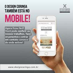 Design Coringa agora também no Mobile! Seus ambientes nos mínimos detalhes onde você estiver! CONFIRAM!  www.designcoringa.com.br