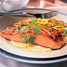 Pan-Seared Salmon with Julienne Vegetables - The Pampered Chef®