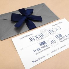 """Invitation for Andreia and Tiago's wedding """"archangels"""" theme."""
