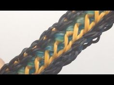 Rainbow Loom MINI LOCK Bracelet. Designed and loomed by Mario at OfficiallyLoomed. Click photo for YouTube tutorial. 02/25/14.