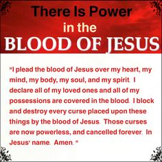 There are unseen forces and attacks in this world. Make sure you are covered and protected by the Blood of Jesus. Jesus Prayer, Prayer Scriptures, Bible Prayers, Catholic Prayers, Faith Prayer, Prayer Quotes, My Jesus, In Jesus Name, I Love Jesus