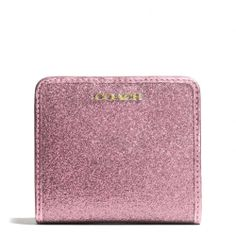 How seriously cute is this..! #coach The Legacy Small Wallet In Glitter Fabric from Coach