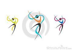 dancers, logo, wellness, ballerina, set ballet illustration,fitness,dancer,sport,people nature