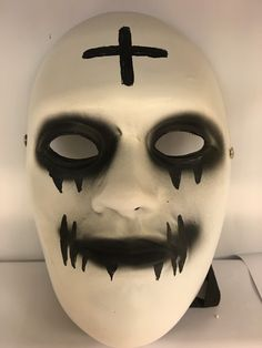 purge anarchy deluxe fibreglass mask stitch mouth universal size w buckle strap - Purge Anarchy Masks For Halloween