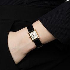 Cartier Tank Louis Cartier 18 Karat Yellow Gold Wristwatch at Cartier Tank, Cartier Gold, Latest Watches, Cool Watches, Watches For Men, Women's Watches, Watches Online, Luxury Watches, Mesh Armband