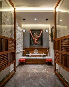 House Wall Design, Pooja Room Door Design, Door Design Interior, Temple Design For Home, Indian Home Design, Indian Home Interior, Indian Homes, Pooja Rooms, Up House