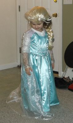 Elsa dress with removable train by Ks1Kreations on Etsy, $150.00