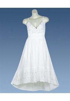 White Hi Low Maxi Dress   Plus Size Dresses   OneStopPlus