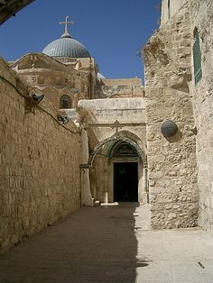 Jerusalem, Israel - Church of the Holy Sepulchre along the Via Dolorosa (Way of the Cross)