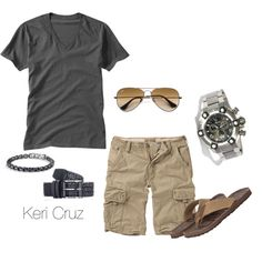 """Men's Summer Fashion"" by keri-cruz. Sharp Dressed Man, Well Dressed Men, Summer Wear, Summer Outfits, Men Summer, Summer Days, Summer Time, Spring Summer, Boy Fashion"