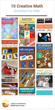 Creative Math activities, books and resources from What Do We Do All Day.
