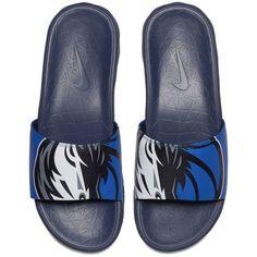 Nike Men's Dallas Mavericks Benassi Solarsoft Slides ($45) ❤ liked on Polyvore featuring men's fashion