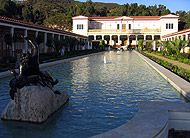 Getty Villa Outer Peristyle- Brilliant idea of J. Paul Getty's to model his museum holding Greek and Roman art after a real Roman house!