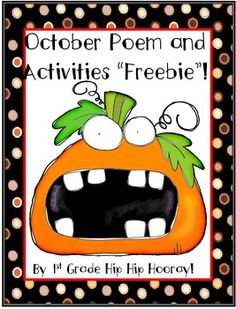 October Poem and Activities...a freebie!