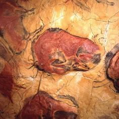 Discover prehistory in Spain: rock art in the Altamira Caves, the Atapuerca site or the Museum of Human Evolution Ancient History, Art History, Fresco, Religions Du Monde, Paleolithic Art, Art Rupestre, Cave Drawings, Historical Art, Tempera