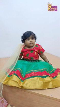 Kids Red Green Embroidery Top Lehenga Choli LC062