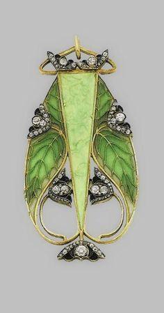 Art Nouveau Pendant. René Lalique (?).