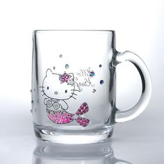 Hello Kitty mug glass (Mermaid) Pink