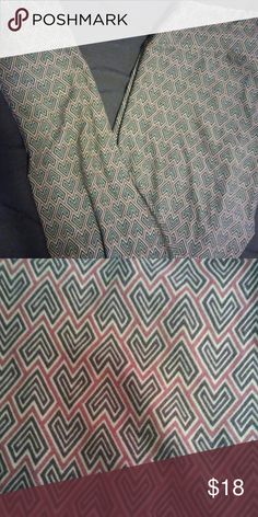 Lularoe OS leggings Dark green and purple worn once LuLaRoe Pants Leggings