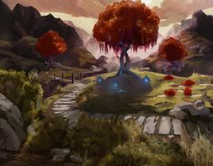 Not so sinister looking concept art here, a much prettier look at the world in the Forest Heart Project Heart Projects, Environment Concept, How To Look Pretty, Concept Art, Gaming, World, Painting, Conceptual Art, Videogames