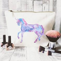 Unicorn makeup bag Cosmetic bag Unique by JustBeBohoCollective Cute Makeup Bags, Large Cosmetic Bag, Bag Quotes, Lip Gloss Set, Unicorn Makeup, Our Generation Dolls, Makeup Mirror With Lights, Cute Bags, Toiletry Bag