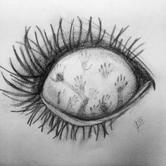 Photo by - Art Drawings Creepy Sketches, Scary Drawings, Demon Drawings, Dark Art Drawings, Pencil Art Drawings, Art Drawings Sketches, Satan Drawing, Drawing Of An Eye, Drawings Of Eyes