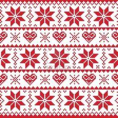 Noël en tricot motif, carte - style pull scandynavian Banque dimages - 16473336