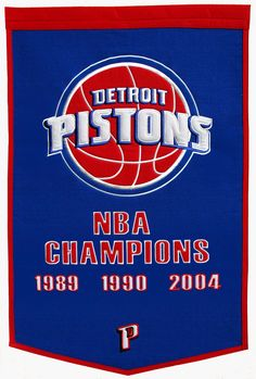 Detroit Pistons Banner...Champion Edition.