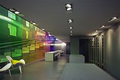 Kvadrat showroom by Peter Saville and David Adjaye by Curly studio , via Behance