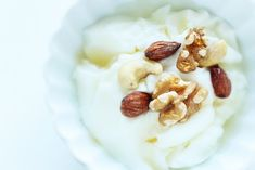 yogurt y nuez nueces
