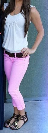White & pink outfit